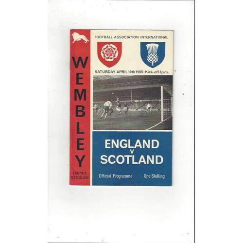 England v Scotland 1965