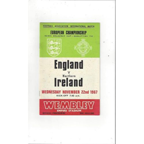 England v Northern Ireland 1967