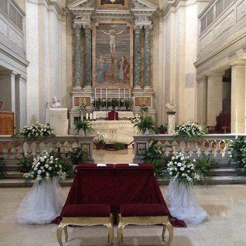 Catholic Church Wedding & Garden Reception Edge of Rome