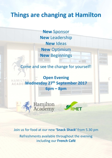 Open Evening for Year 5 & 6 Pupils and Parents on 27th September 2017