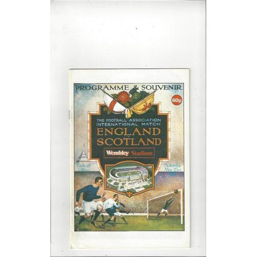 1981 England v Scotland Football Programme White Cover