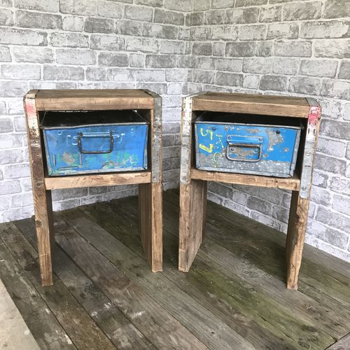 Upcycled Side Tables.