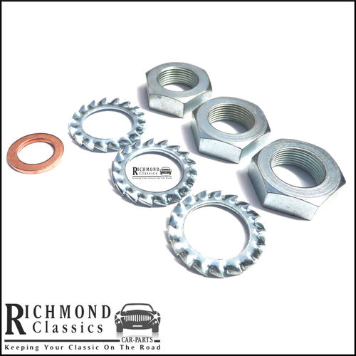 Classic Mini Brake & Clutch Hose Anti Rattle / Copper Washer & Nuts WE600101