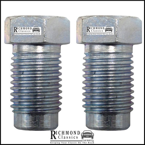"""Zinc Plated Male Brake Unions 7/16"""" x 20TPI for 1/4"""" Pipe"""