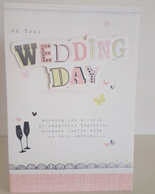 wedding day glasses hearts card