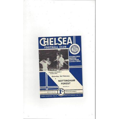 Chelsea v Nottingham Forest 1967/68