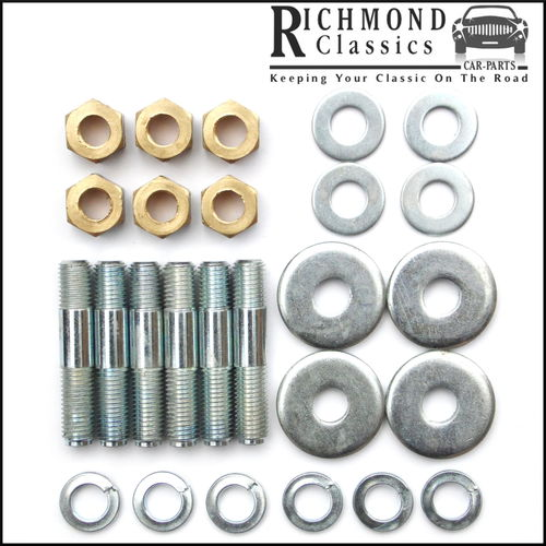 Austin Mini Exhaust Manifold Studs, Nuts and Washers Kit