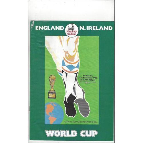 England v Northern Ireland 1985