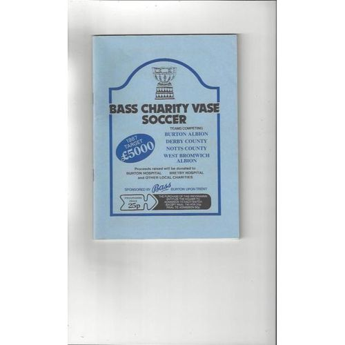 Bass Charity Vase 1987 Burton, Derby County, Notts County & West Bromwich Albion