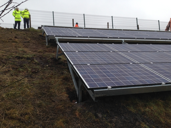 Solar panels installed in challenging location