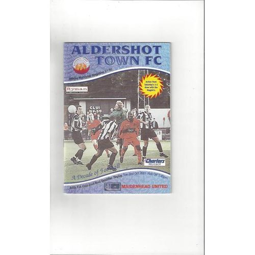 Aldershot Town v Maidenhead United FA Cup 2001/02