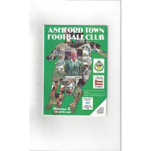 Ashford Town (Kent) v Bognor Regis Town FA Cup Football Programme 1995/96