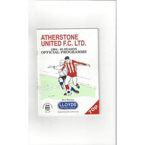 Atherstone United v Hednesford Town FA Cup Football Programme 1994/95