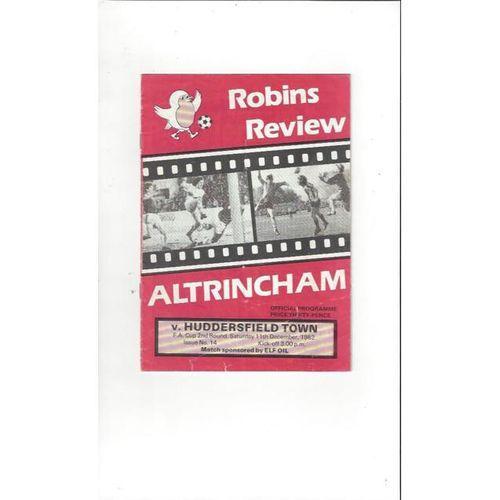 Altrincham v Huddersfield Town FA Cup Football Programme 1982/83