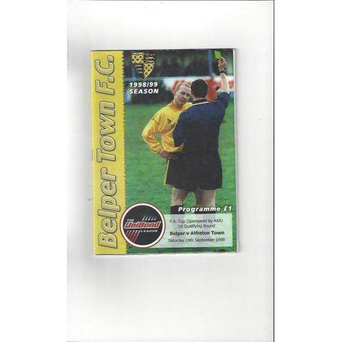 1998/99 Belper Town v Alfreton Town FA Cup Football Programme