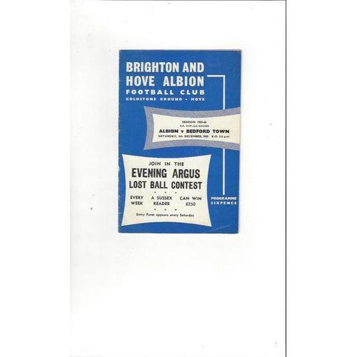 1965/66 Brighton v Bedford Town FA Cup Football Programme