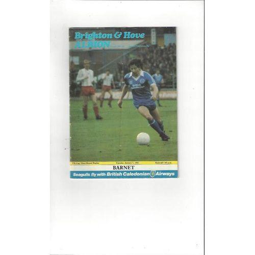 1981/82 Brighton v Barnet FA Cup Football Programme