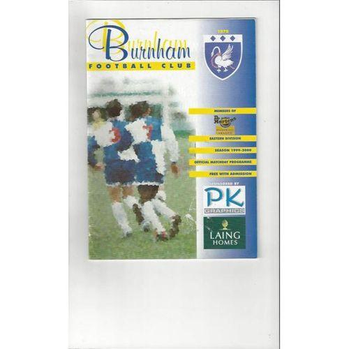 1999/00 Burnham v Wisbech Town FA Cup Football Programme