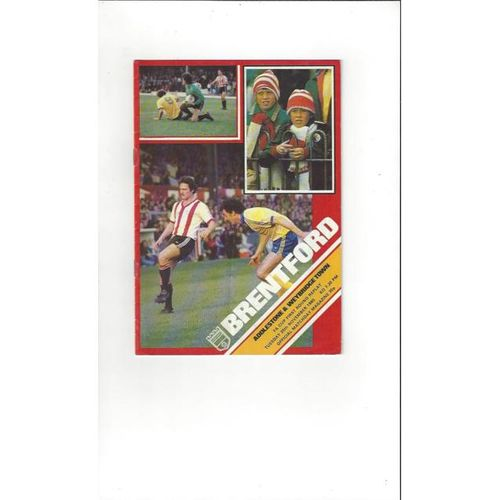 1980/81 Brentford v Addlestone & Weybridge Town FA Cup Football Programme