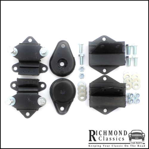 Classic Mini Floor Mounts, Pear Drop and Engine Mounts 21A2599, 21A2624, 21A1902