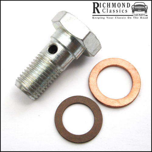 Classic Mini, MG Midget, MGB Banjo Bolt and Copper Crush Washers - C5192A, 3H550