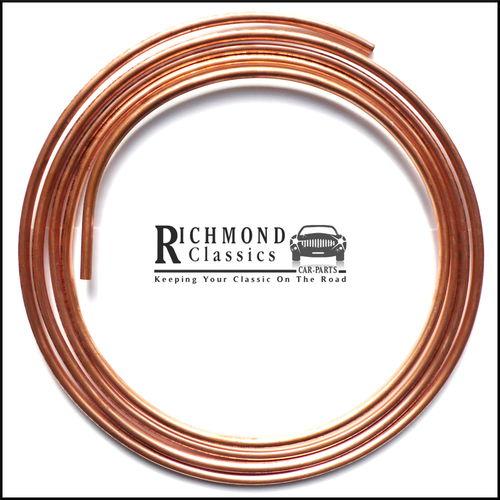 "Classic Mini 8mm Diameter (5/16"") Copper Fuel Line / Pipe - FP226, 37H7148M"