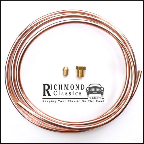 "Classic MG Midget 1500 1/4"" Copper Fuel Pipe / Line with Fittings - CPP7148"