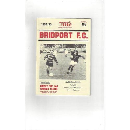1994/95 Bridport v Backwell United FA Cup Football Programme