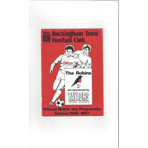 1986/87 Buckingham Town v Dunstable Town FA Cup Football Programme