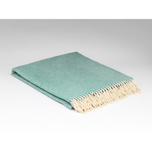Spearmint Supersoft Lambswool throw