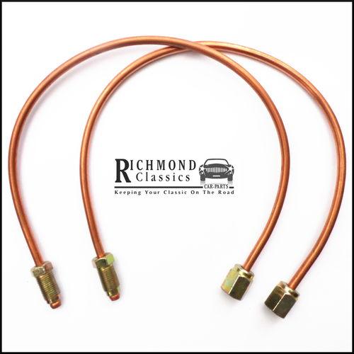 Classic Mini Rear Radius Arm Brake Pipes in Copper - GPP10AC
