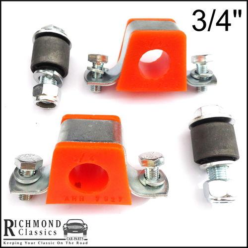 "MGB GT 3/4"" Anti Roll Bar Orange Polyurethane, Eyelet Bushes Brackets' Kit - AHH5939"