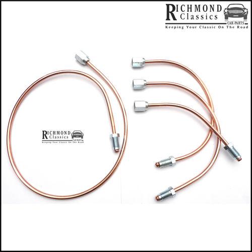 Classic Mini Rear Subframe Copper Brake Pipe Kit