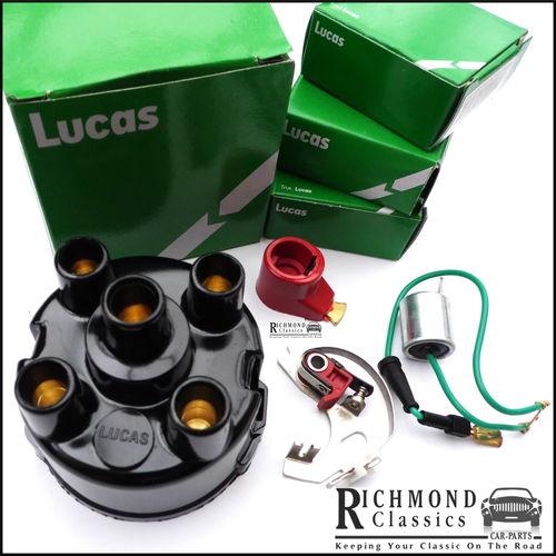 Classic Mini 45D Distributor Cap, Rotor Arm, Points, Condenser Kit  LUCAS - GDC136