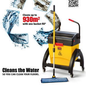 A breakthrough in cleaning - The Rubbermiad Hygen Floor Cleaning System