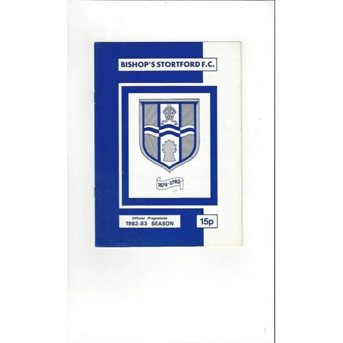 Bishop's Stortford v Middlesbrough FA Cup Replay Football Programme 1982/83