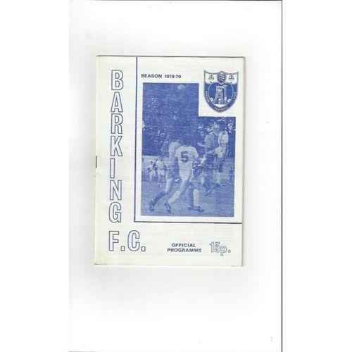 1978/79 Barking v Aldershot FA Cup Football Programme