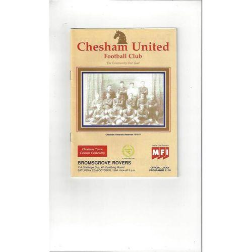 Chesham United v Bromsgrove Rovers FA Cup Football Programme 1994/95