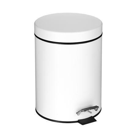 White five litre pedal bin