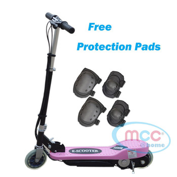 Pink Electric E Scooter Ride on Rechargeable Battery Height Adjustable 120W 24V