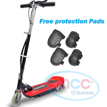 Red Electric E Scooter Ride on Rechargeable Battery Height Adjustable 120W 24V