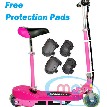 Pink Electric E Scooter Ride on Rechargeable Battery With Removable Seat 120W 24V