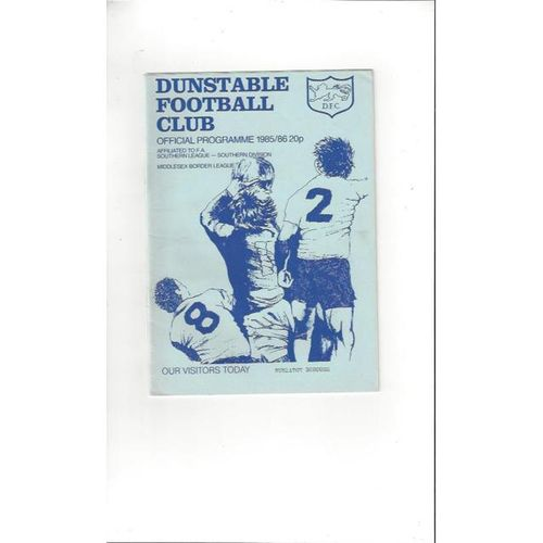 Dunstable Town v Nuneaton Borough FA Cup Football Programme 1985/86