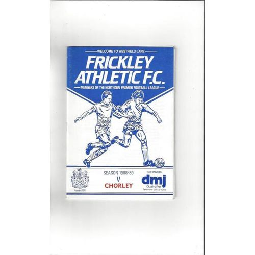 1988/89 Frickley Athletic v Chorley FA Cup Football Programme