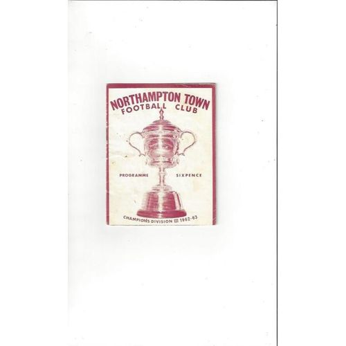 1963/64 Northampton Town v Derby County Football Programme