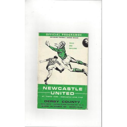 Newcastle United v Derby County 1969/70 + League Review