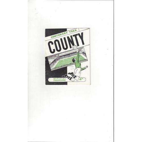 1961/62 Notts County v Watford Football Programme