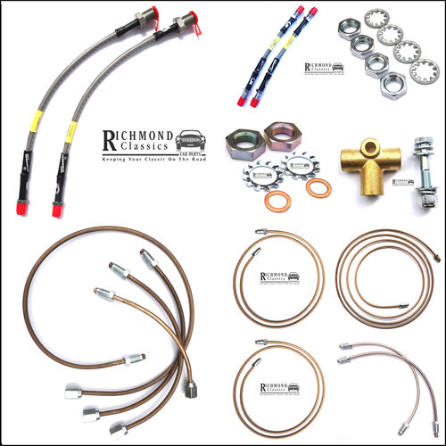 Cupro Nickel / Goodridge Brake Pipe Kit, Classic Mini Combined Servo/Master 1990 onwards