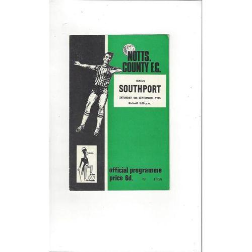 Notts County v Southport 1965/66