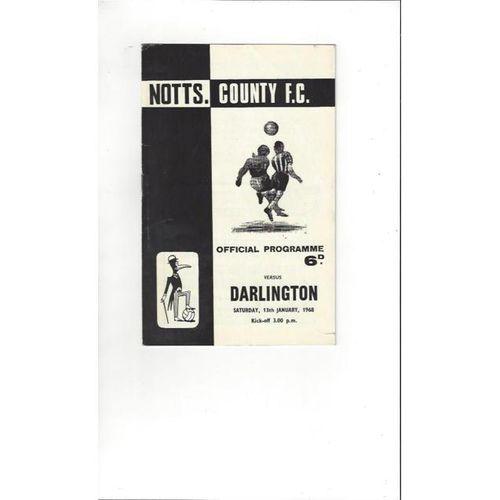 Notts County v Darlington 1967/68